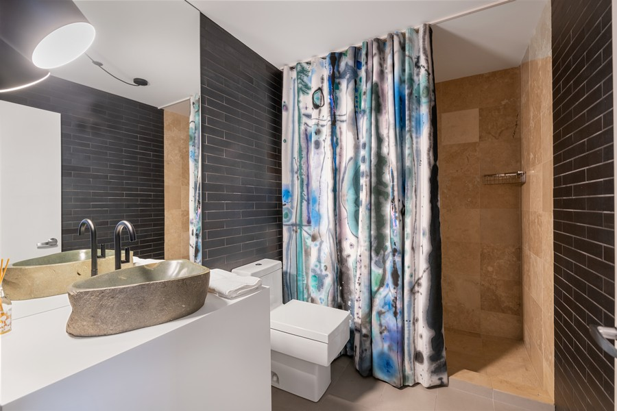 Real Estate Photography - 201 W Grand, #602, Chicago, IL, 60654 - 2nd Bathroom