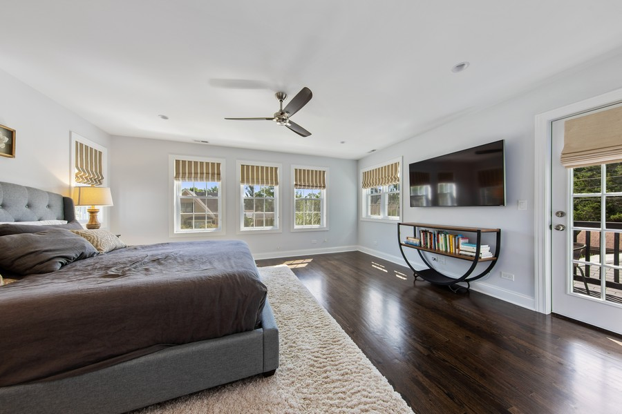 Real Estate Photography - 4144 Harvey Avenue, Western Springs, IL, 60558 - Master Bedroom
