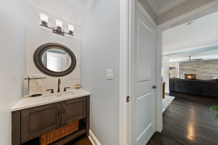 Real Estate Photography - 4144 Harvey Avenue, Western Springs, IL, 60558 - Powder Room