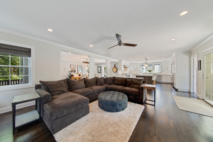 Real Estate Photography - 4144 Harvey Avenue, Western Springs, IL, 60558 - Family Room