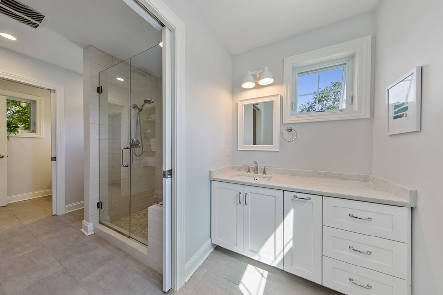 Real Estate Photography - 4144 Harvey Avenue, Western Springs, IL, 60558 - Bathroom