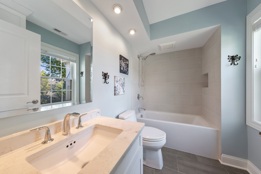 Real Estate Photography - 4144 Harvey Avenue, Western Springs, IL, 60558 - 2nd Bathroom