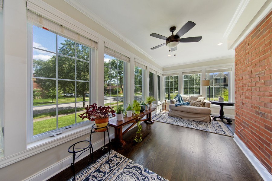 Real Estate Photography - 4144 Harvey Avenue, Western Springs, IL, 60558 - Sun Room