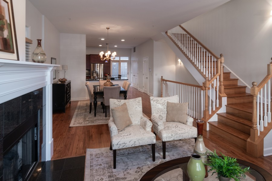 Real Estate Photography - 186 N Marion Ave, Oak Park, IL, 60302 - Living Room / Dining Room