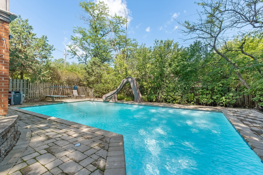 Real Estate Photography - 1773 Winthrop Rd, Highland Park, IL, 60035 - Pool