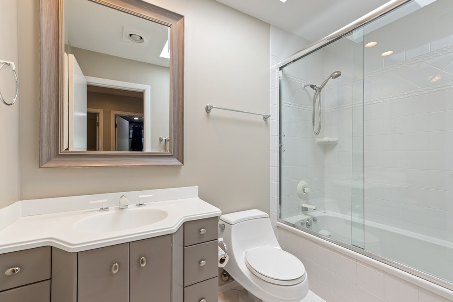 Real Estate Photography - 1773 Winthrop Rd, Highland Park, IL, 60035 - 2nd Bathroom