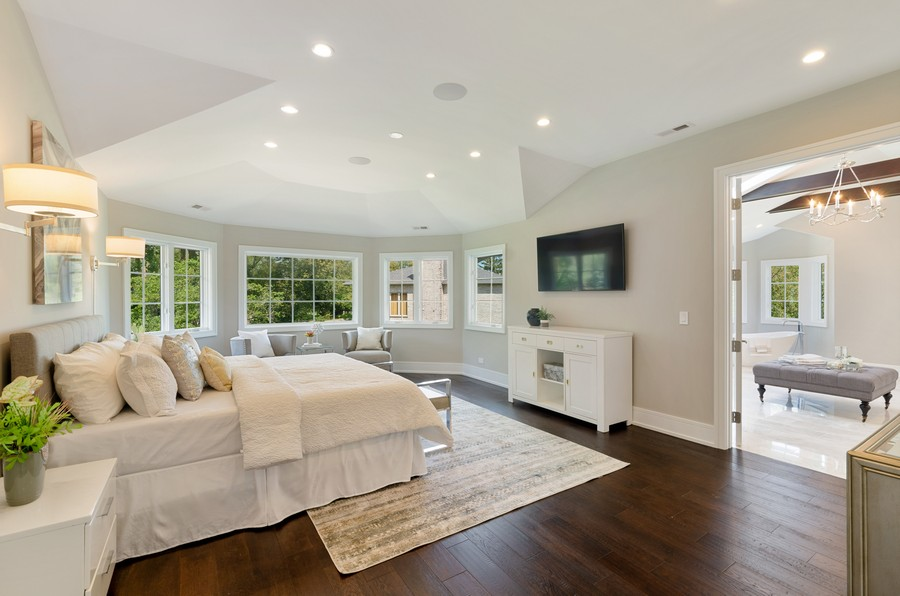 Real Estate Photography - 3602 Lawson Rd, Glenview, IL, 60026 - Master Bedroom