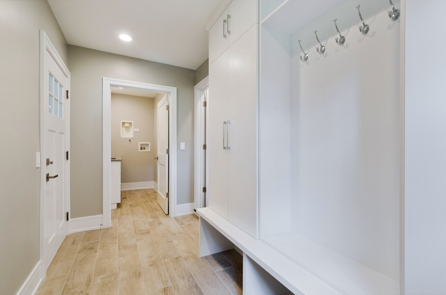 Real Estate Photography - 3602 Lawson Rd, Glenview, IL, 60026 - Mudroom