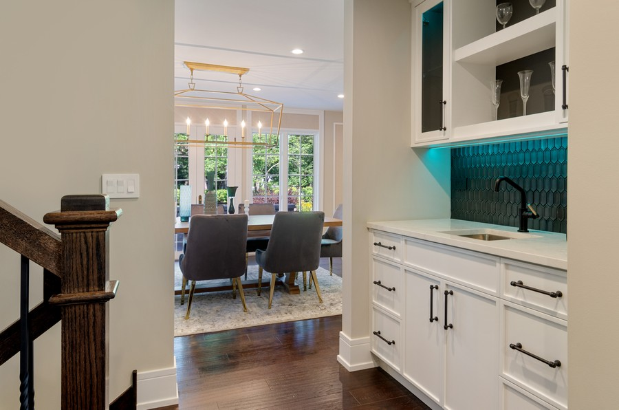 Real Estate Photography - 3602 Lawson Rd, Glenview, IL, 60026 - Butler's pantry