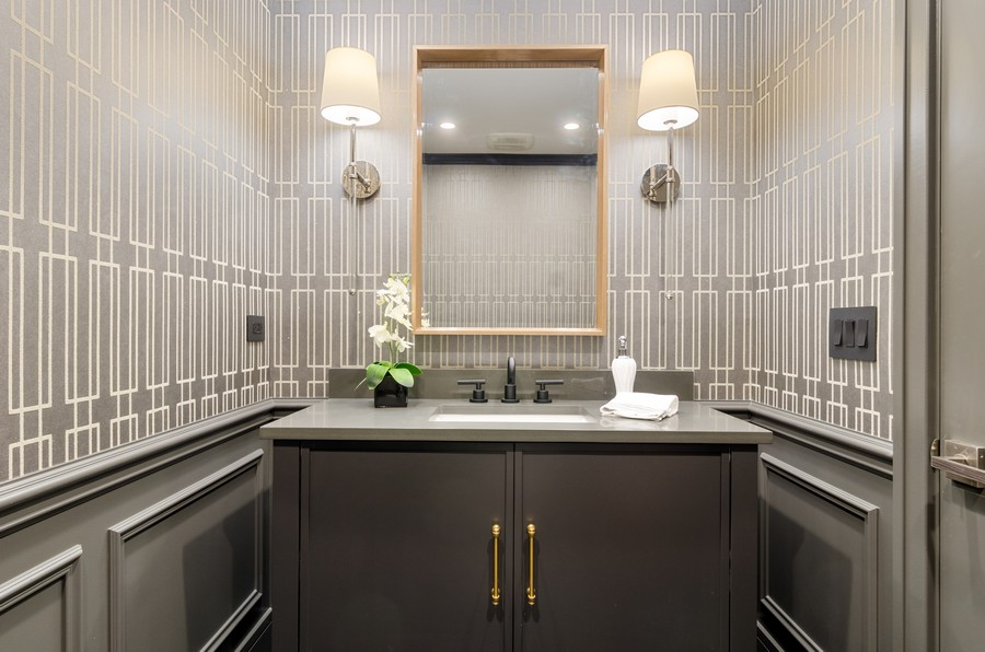 Real Estate Photography - 3602 Lawson Rd, Glenview, IL, 60026 - Powder Room