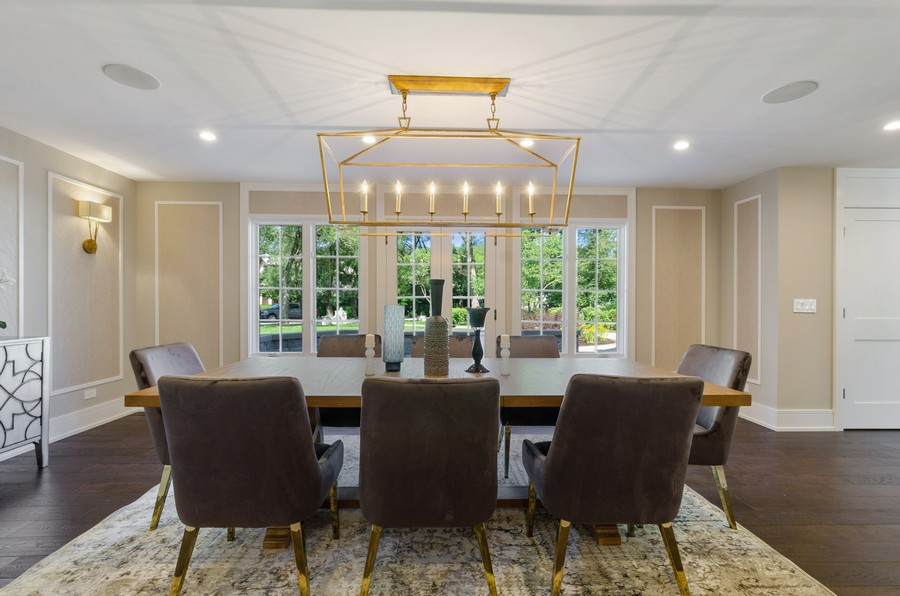 Real Estate Photography - 3602 Lawson Rd, Glenview, IL, 60026 - Dining Room