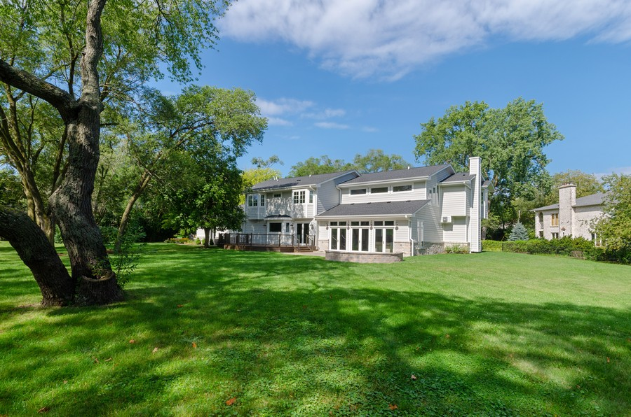 Real Estate Photography - 3602 Lawson Rd, Glenview, IL, 60026 - Rear View