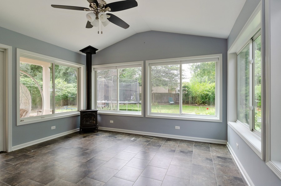 Real Estate Photography - 3537 Maple Leaf Drive, GLenview, IL, 60062 - Sun Room