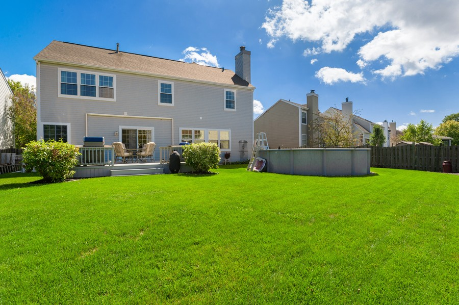 Real Estate Photography - 1723 Fairport Dr, Grayslake, IL, 60030 - Rear View