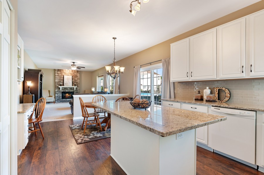 Real Estate Photography - 1723 Fairport Dr, Grayslake, IL, 60030 - Family Room / Kitchen