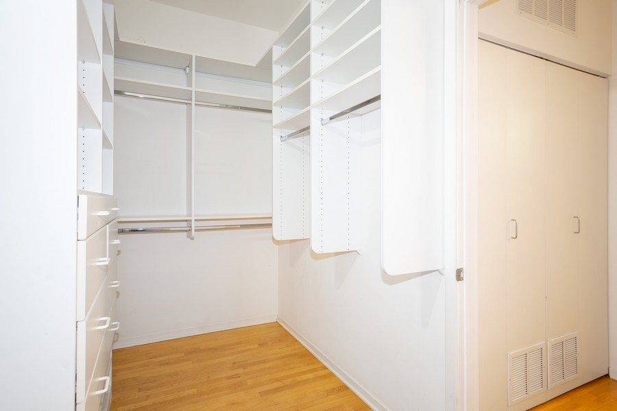 Real Estate Photography - 130 S. Canal St., #816, Chicago, IL, 60606 - Master Bedroom Closet