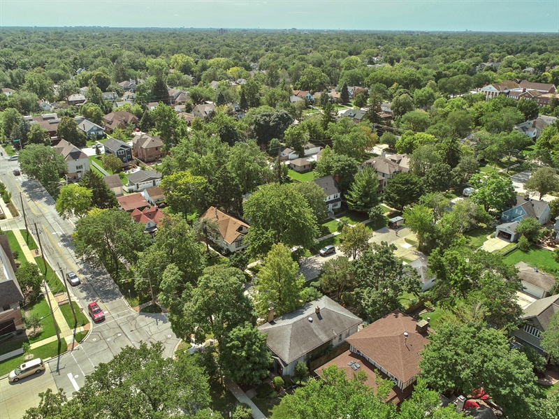Real Estate Photography - 1100 Washington, Glenview, IL, 60025 - Aerial View