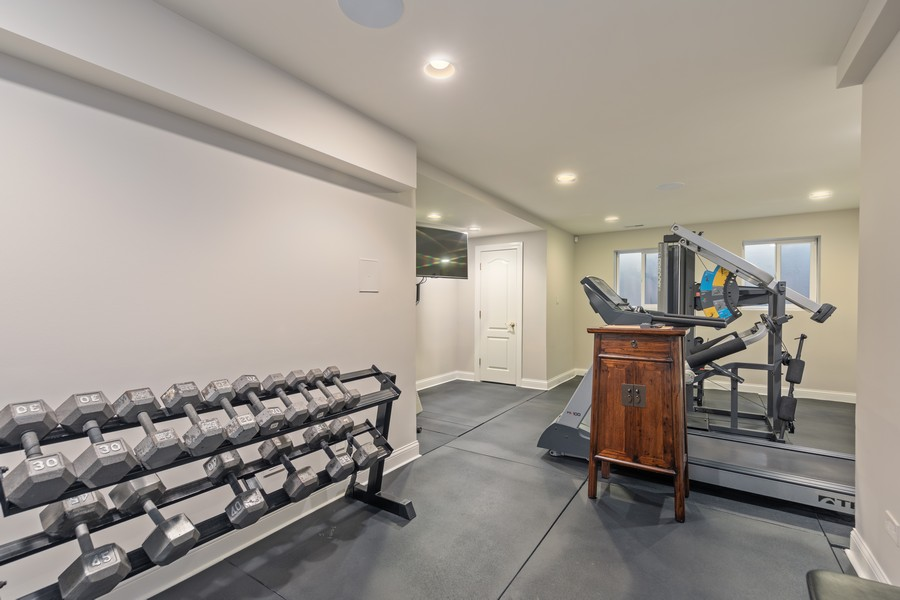 Real Estate Photography - 222 N Bruner, Hinsdale, IL, 60521 - Fitness Room
