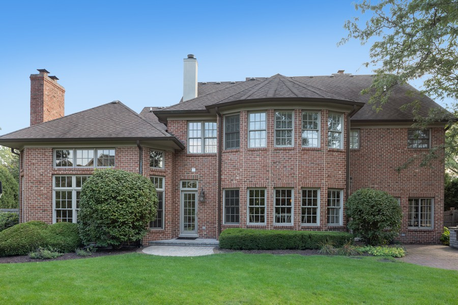 Real Estate Photography - 222 N Bruner, Hinsdale, IL, 60521 - Rear View