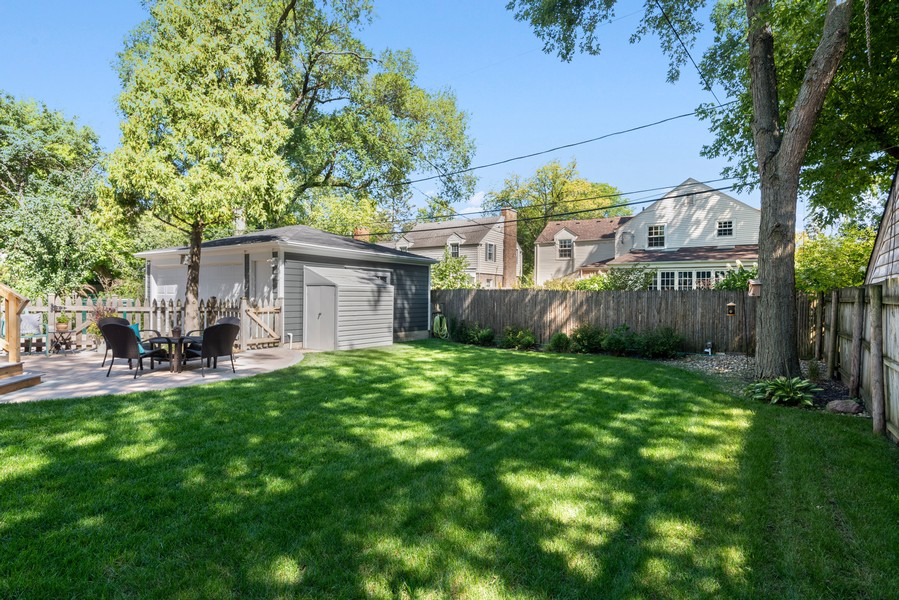 Real Estate Photography - 832 Leyden Ln, Wilmette, IL, 60091 - Back Yard