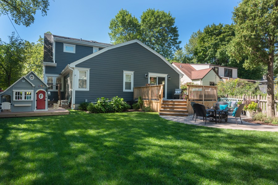 Real Estate Photography - 832 Leyden Ln, Wilmette, IL, 60091 - Rear View