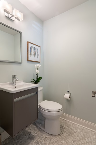 Real Estate Photography - 832 Leyden Ln, Wilmette, IL, 60091 - Main Level Powder Room