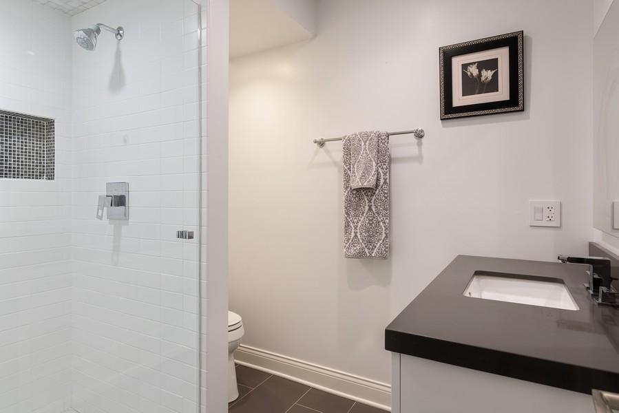 Real Estate Photography - 832 Leyden Ln, Wilmette, IL, 60091 - 3rd Ensuite Bedroom Bathroom