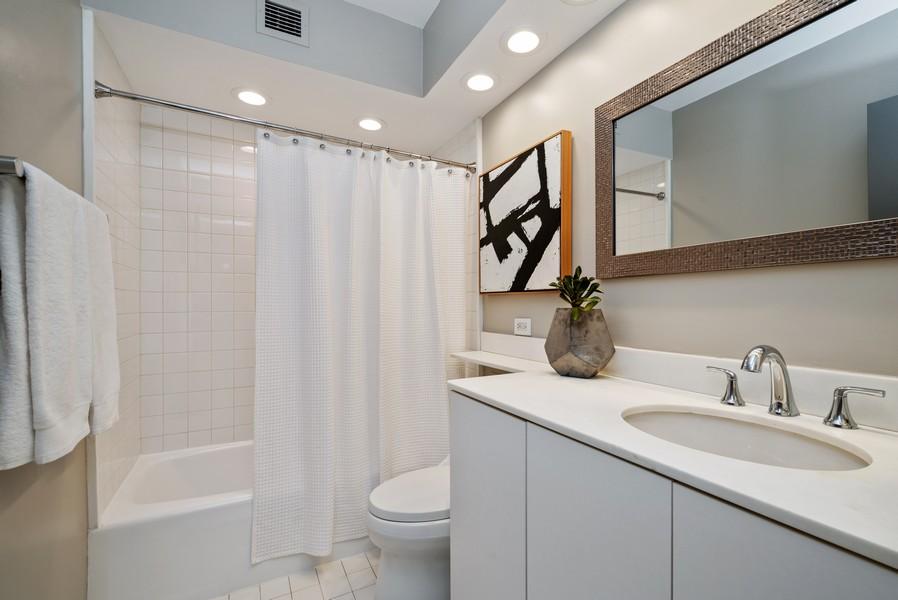 Real Estate Photography - 100 E Bellevue, Apt 25E, Chicago, IL, 60611 - Master Bathroom