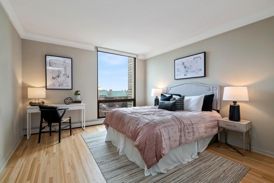 Real Estate Photography - 100 E Bellevue, Apt 25E, Chicago, IL, 60611 - 2nd Bedroom