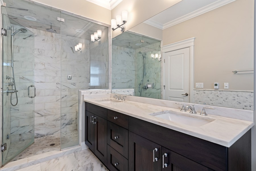 Real Estate Photography - 3222 N Southport Ave, Unit 2S, Chicago, IL, 60657 - Master Bathroom