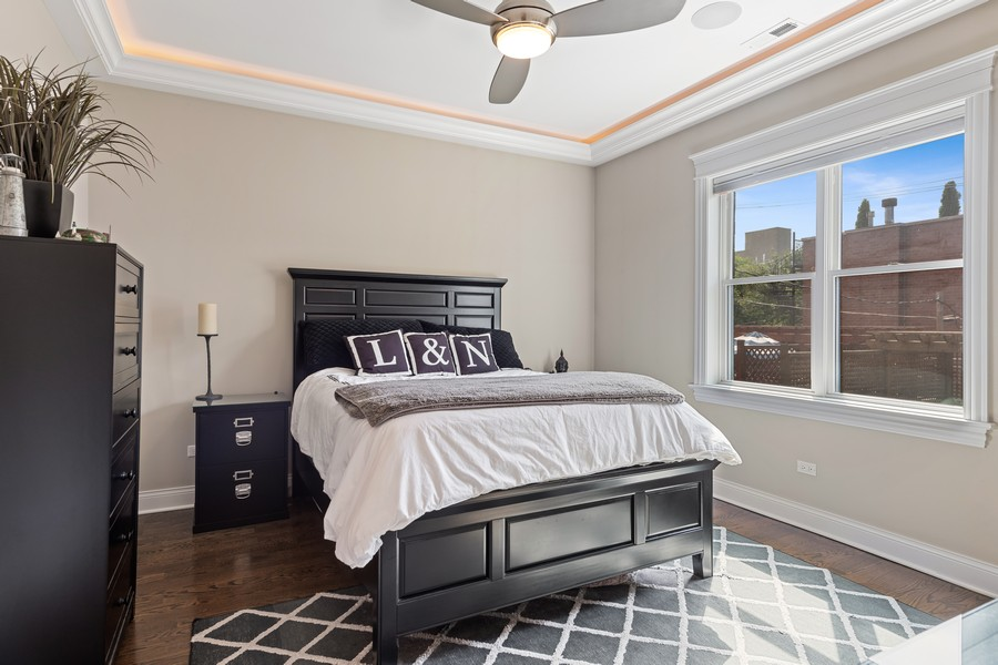 Real Estate Photography - 3222 N Southport Ave, Unit 2S, Chicago, IL, 60657 - Master Bedroom