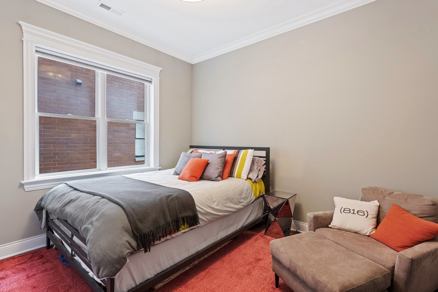 Real Estate Photography - 3222 N Southport Ave, Unit 2S, Chicago, IL, 60657 - 2nd Bedroom