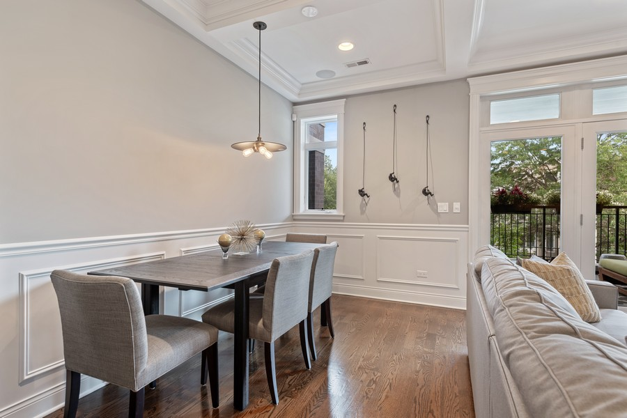 Real Estate Photography - 3222 N Southport Ave, Unit 2S, Chicago, IL, 60657 - Dining Room
