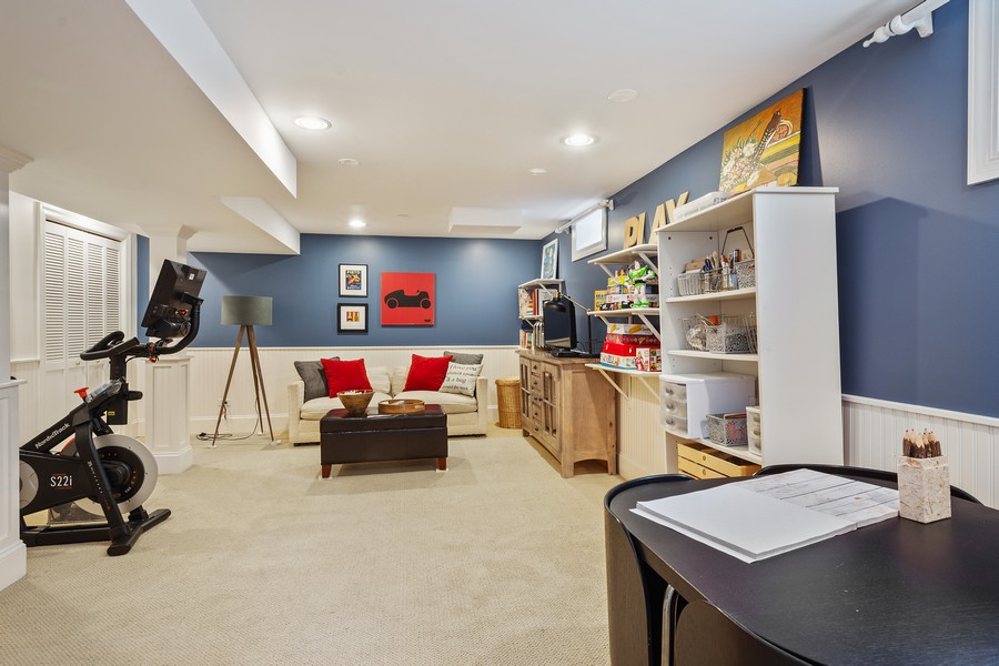 Real Estate Photography - 512 S Grove Ave, Barrington, IL, 60010 - Family Room