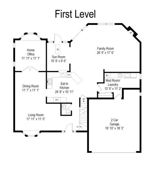 Real Estate Photography - 1118 Larraway Dr, Buffalo Grove, IL, 60089 - Floor Plan