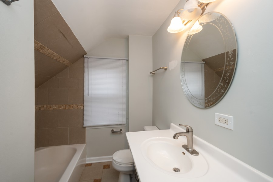 Real Estate Photography - 5542 S Nagle, Chicago, IL, 60638 - 3rd Bathroom