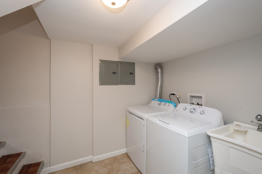 Real Estate Photography - 5542 S Nagle, Chicago, IL, 60638 - Laundry Room