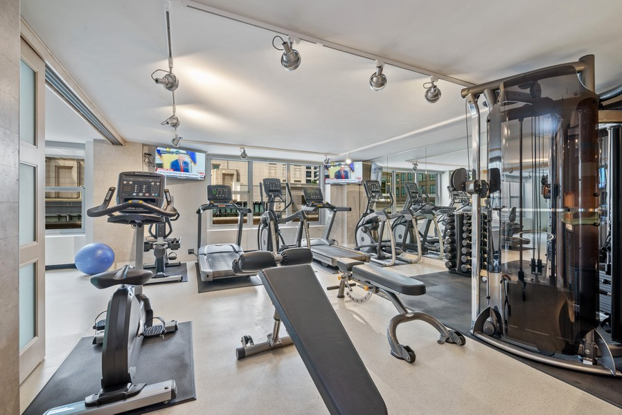 Real Estate Photography - 777 N Michigan Ave, 2506, Chicago, IL, 60611 - Exercise Room