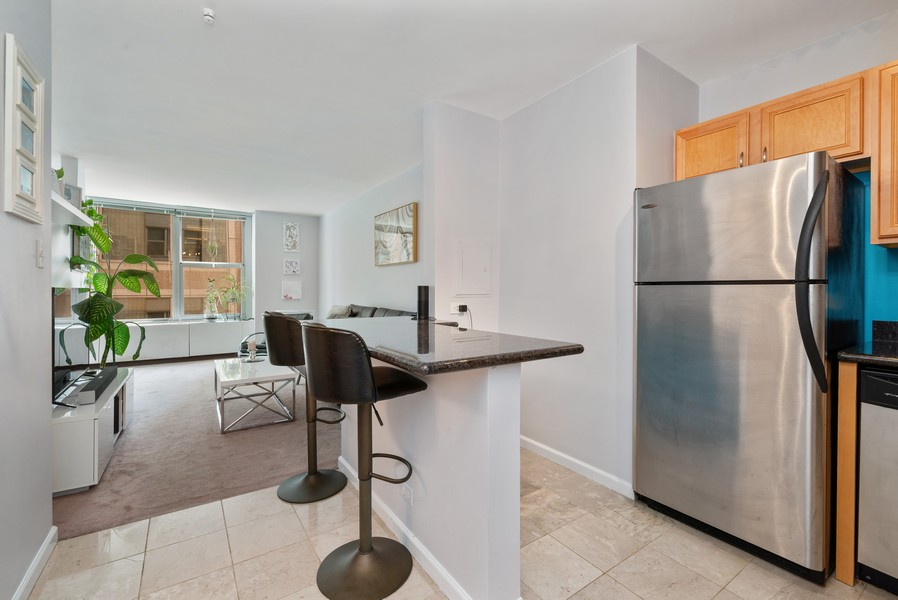 Real Estate Photography - 777 N Michigan Ave, 2506, Chicago, IL, 60611 - Kitchen/Living