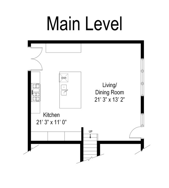 Real Estate Photography - 1209 S Division St, Barrington, IL, 60010 - Floor Plan