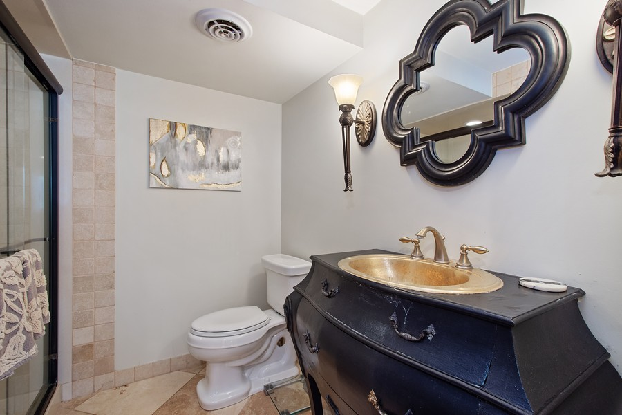 Real Estate Photography - 1209 S Division St, Barrington, IL, 60010 - 2nd Bathroom