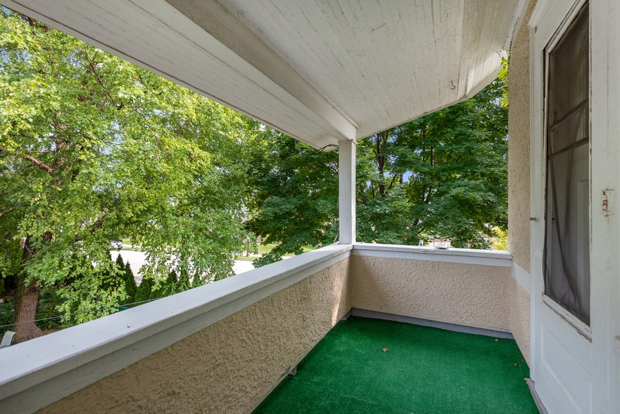 Real Estate Photography - 102 5th St, Wilmette, IL, 60091 - Balcony