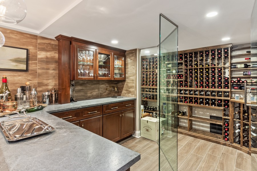 Real Estate Photography - 314 Otis Rd, Barrington, IL, 60010 - Bar/Wine Cellar