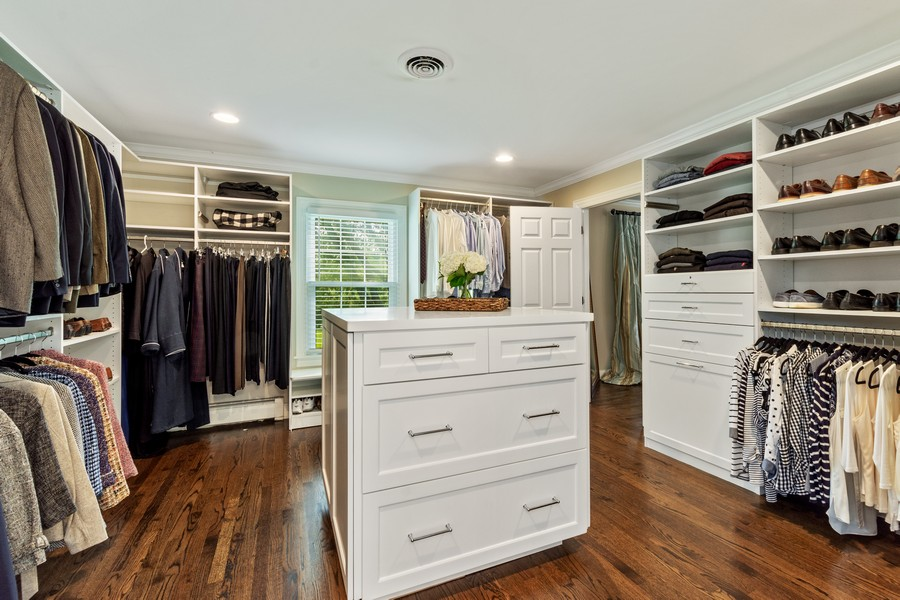Real Estate Photography - 314 Otis Rd, Barrington, IL, 60010 - Master Bedroom Closet
