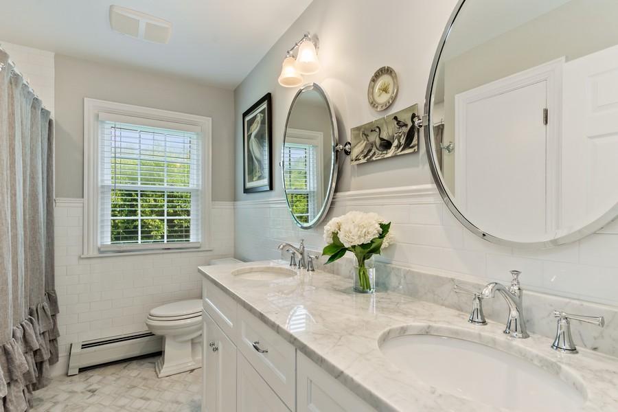 Real Estate Photography - 314 Otis Rd, Barrington, IL, 60010 - Hallway Bathroom