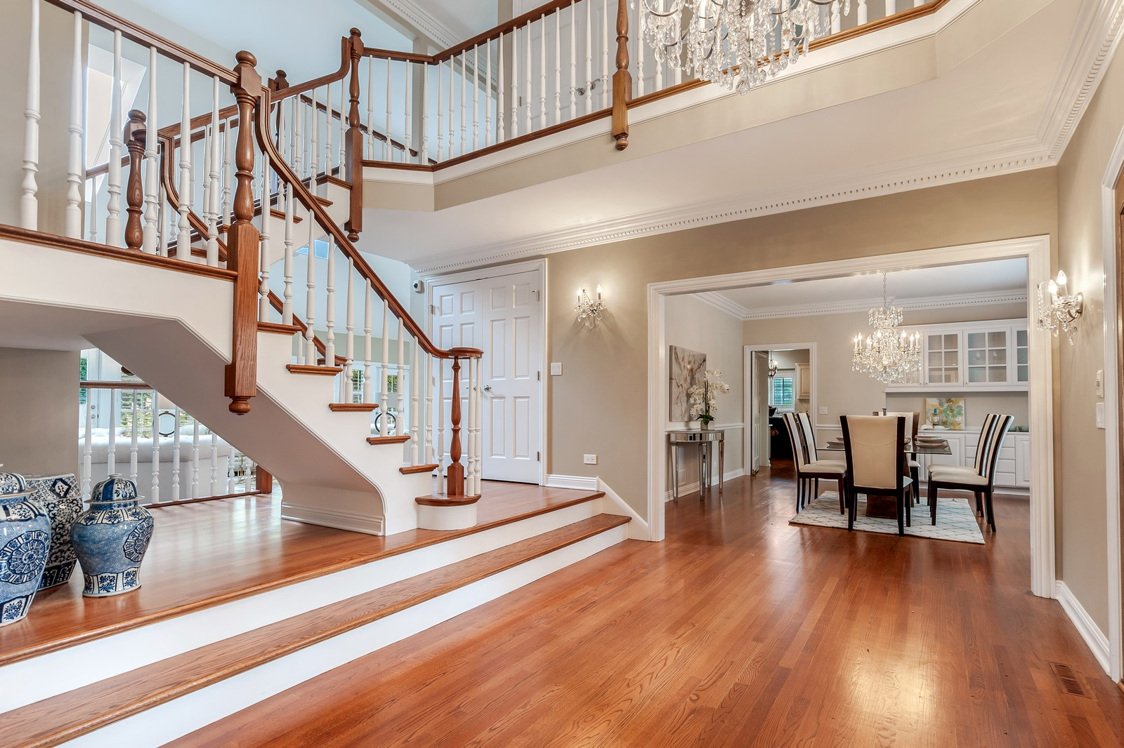 Real Estate Photography - 1215 Golf Rd, Libertyville, IL, 60048 - Foyer/Dining Room