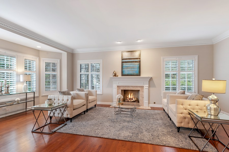 Real Estate Photography - 1215 Golf Rd, Libertyville, IL, 60048 - Living Room