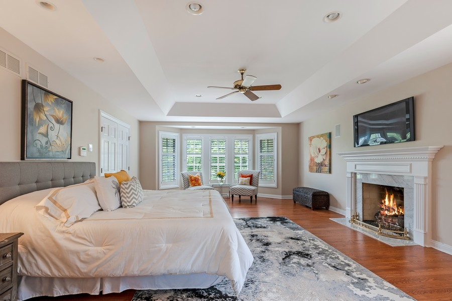 Real Estate Photography - 1215 Golf Rd, Libertyville, IL, 60048 - Master Bedroom