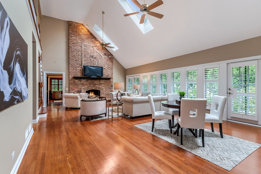 Real Estate Photography - 1215 Golf Rd, Libertyville, IL, 60048 - Family Room