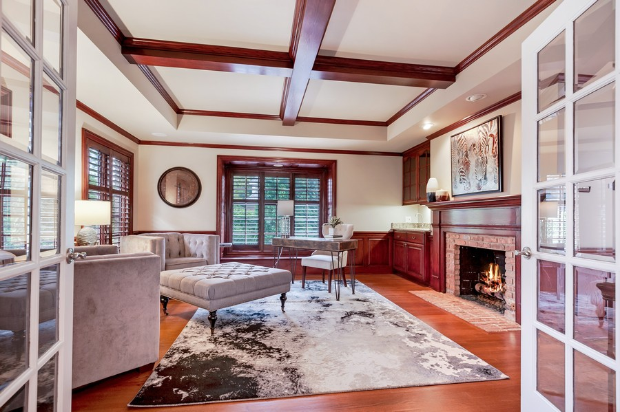 Real Estate Photography - 1215 Golf Rd, Libertyville, IL, 60048 - Study